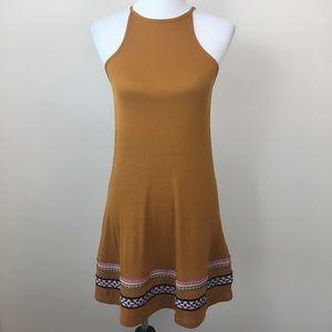 NWT ASOS Petite Mustard Yellow Ribbed Tank Dress 4